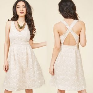 Modcloth Lace & Mesh Posh Presence A-line Dress
